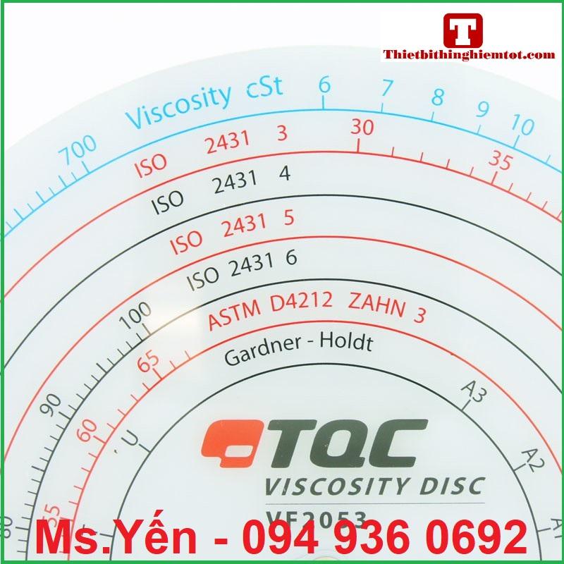 Bảng chuyển đổi độ nhớt và thời gian đo của cốc đo độ nhớt