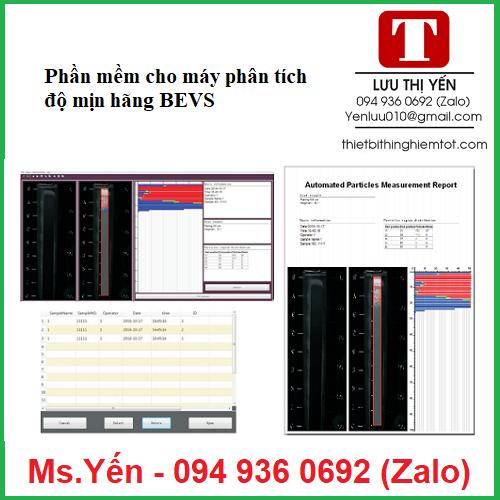 Phần mềm cho máy phân tích kích thước hạt BEVS3168 hãng BEVS