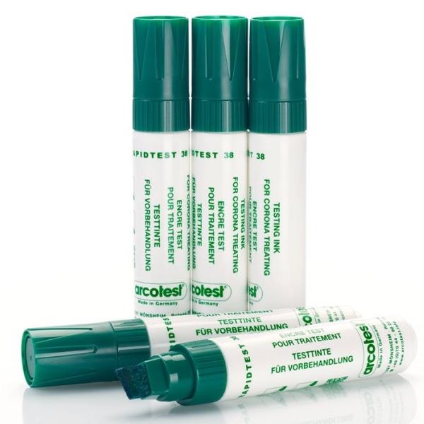 Bút thử sức căng bề mặt test nhanh giá trị 38 màu mực xanh lá loại JUMBO
