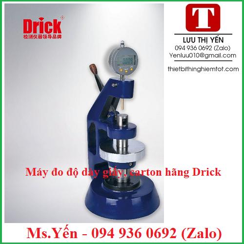 Máy đo độ dày giấy carton DRK107A hãng Drick