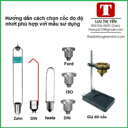 Hướng dẫn cách chọn cốc đo độ nhớt phù hợp với mẫu sử dụng