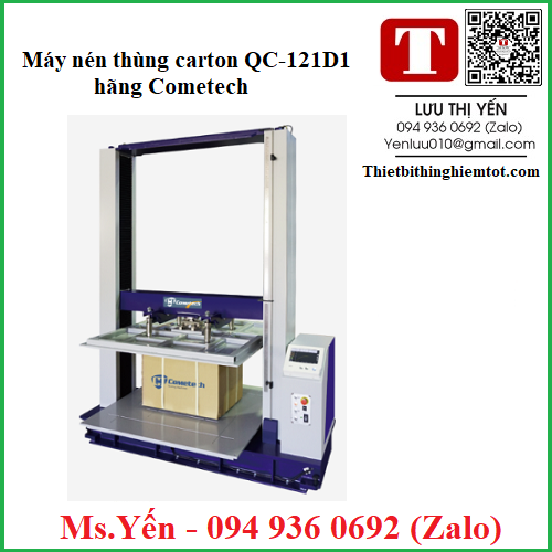 Máy nén thùng carton QC-121D1 hãng Cometech