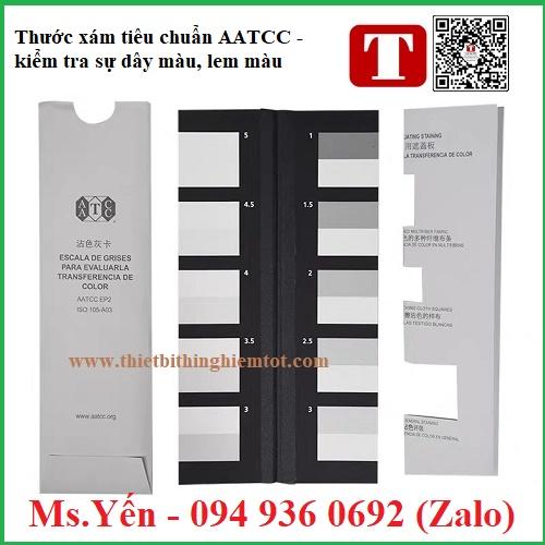 Thước xám tiêu chuẩn AATCC kiểm tra sự dây màu, lem màu